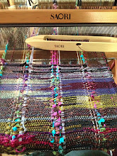 Photo: my saori cowl weaving