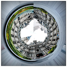 City Hall Sphere by Gene Lybarger - Digital Art Places