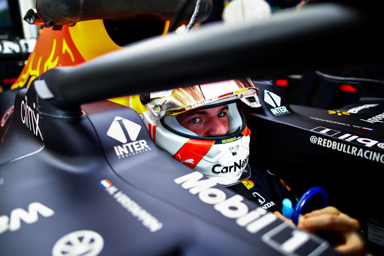 Max Verstappen of Netherlands and Red Bull Racing looks on from his car during final practice ahead of the F1 Grand Prix of Bahrain at Bahrain International Circuit on March 27, 2021 in Bahrain, Bahrain.