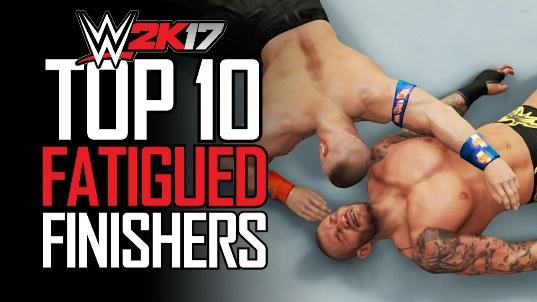 WWE 2K17 - TOP 10 FATIGUED FINISHERS! (WWE 2K17 Tired Finishers ...