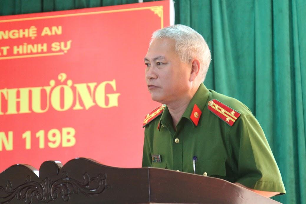 Đại tá Phạm Hoài Nam, Trưởng phòng Cảnh sát hình sự báo cáo kết quả đấu tranh chuyên án