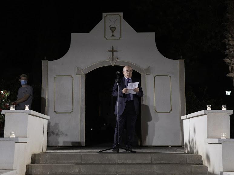 Palabras en homenaje a don Ramón Garrido. Foto de Andy Arche.