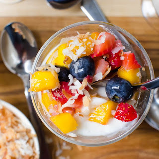 Coconut Rum Pudding with Tropical Fruit