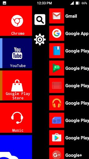 x launcher metro look - themes screenshot 2