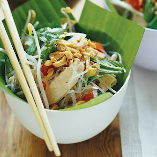 Glass Noodles With Chicken, Lime And Mint.