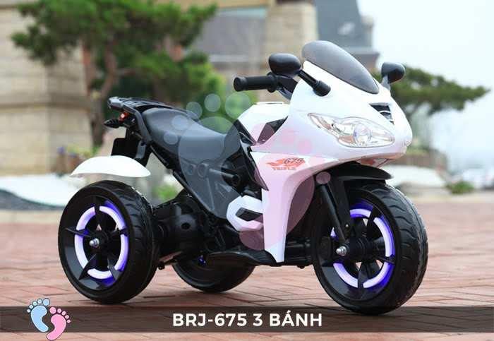 Xe moto điện trẻ em BRJ-675 3 bánh 8