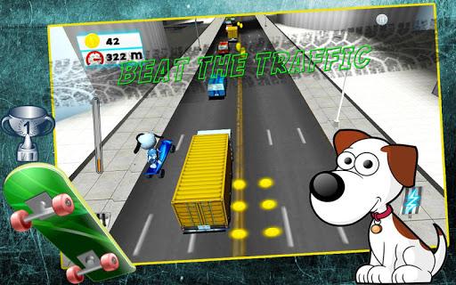 스케이트 강아지 : 교통 실행