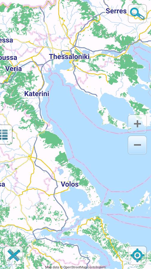 Map of Greece offline - στιγμιότυπο οθόνης