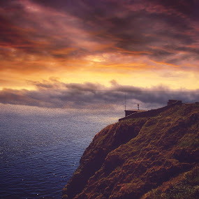 Lighthouse by Mariusz Murawski - Landscapes Cloud Formations ( #landscape, #clouds, #coast, #lighthouse, #sky, #weather,  )