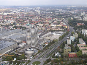 Photo: ......... en het bijbehorende uitzicht over München.