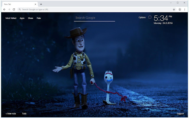 Toy Story 4 HD Wallpapers New Tab