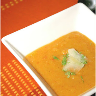 ROASTED PEPPER AND RED LENTIL SOUP