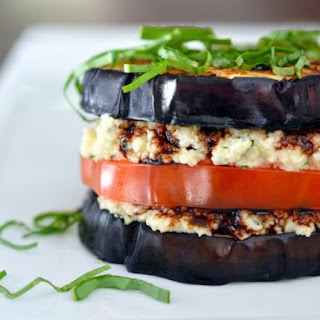 "Eggplant ""Ricotta"" Stacks From 'Nom Nom Paleo'."