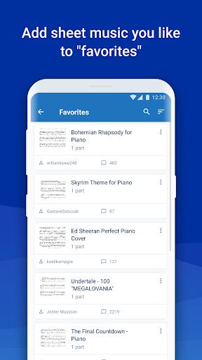 MuseScore: view and play sheet music 2.5.25 screenshots 4