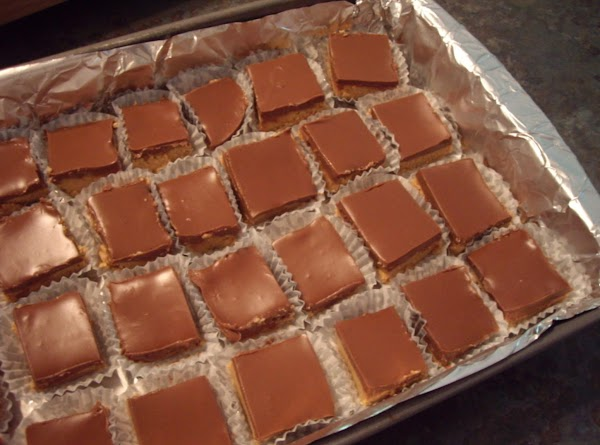 Chill for a few hours. Cut into squares and serve in mini cupcake liners.