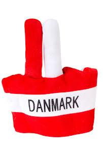 Hatt med fingrar, Danska flaggan