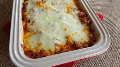 "Spaghetti Squash Lasagne ""What a delicious low-carb lasagna recipe! I love cooking..."