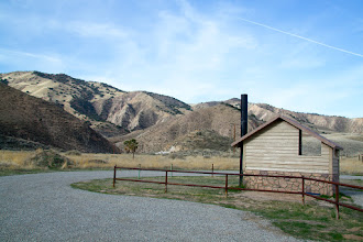 Photo: Griswold Hills Recreation area. A parking place, bathroom and picnic table with access to BLM land.