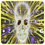 Flambe Skull Keyboard 3D Tech APK icon