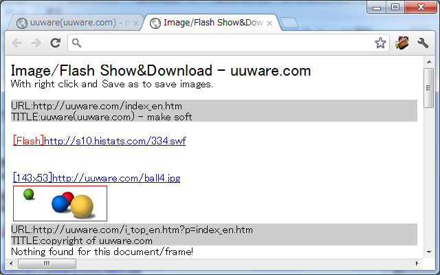 Image/Flash Show&Download