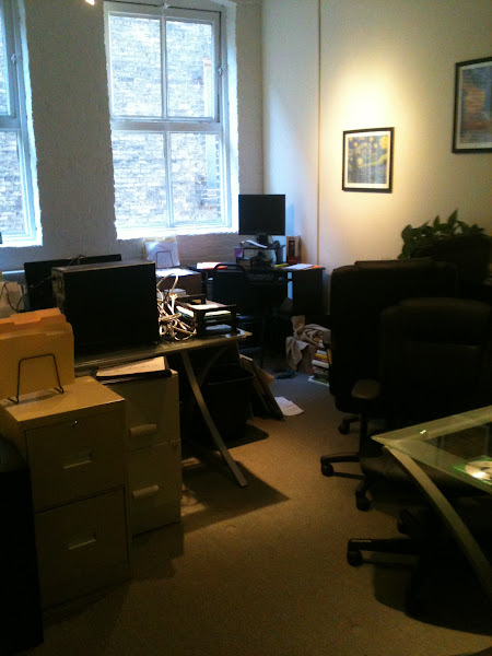 Photo: Pushed as much into one office as we could.
