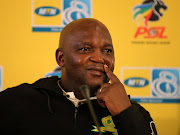 Mamelodi Sundowns coach Pitso Mosimane was in his element at a press conference at PSL offices on August 29 2019.