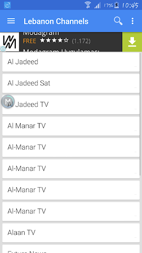 TV Lebanon Sat Data