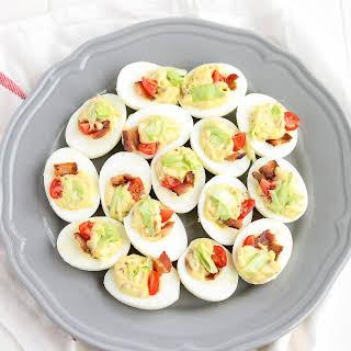 Ranch Blt Deviled Eggs.