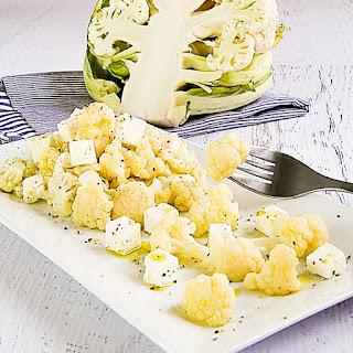 CAULIFLOWER SALAD with feta cheese.