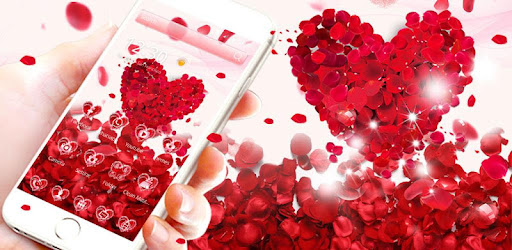 Red Rose Love Theme Wallpaper app (apk) free download for Android/PC