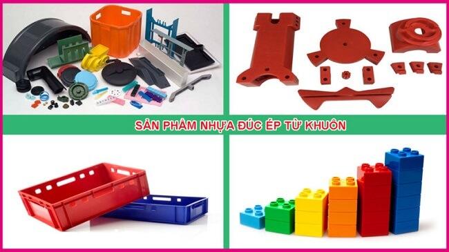 Các sản phẩm bằng nhựa được đúc ép từ khuôn