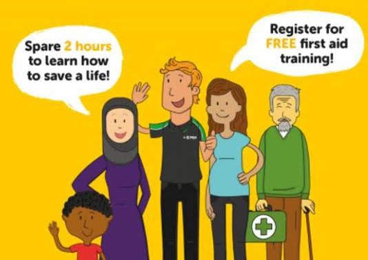 Free first aid training for charities and voluntary groups