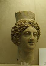 Photo: Terracotta head of Persephone c300 BC .......... Terracotta hoofd van Persephone rond 300 v.C.
