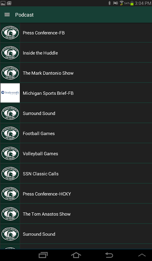 Spartan Sports Network- screenshot
