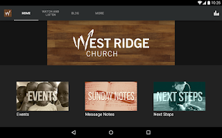 Screenshot of West Ridge Church