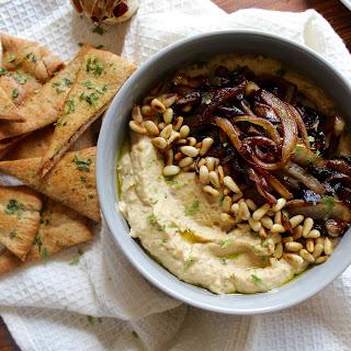 Caramelized Onion & Roasted Garlic Hummus