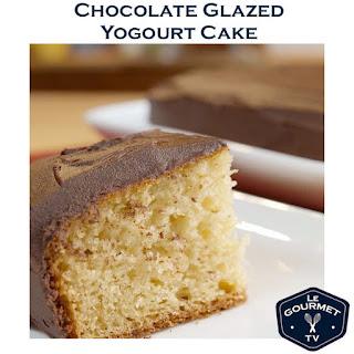 Super Moist Chocolate Glazed Yogourt Cake Recipe