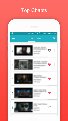 BlueTunes - Free Music & Music Video Android App Screenshot