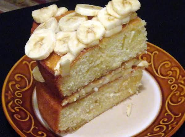 Slice Of Homemade Banana Cake.