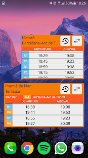 Trains (Rodalies) Widget - náhled