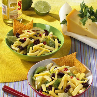 Cheese Bean and Pepper Salad