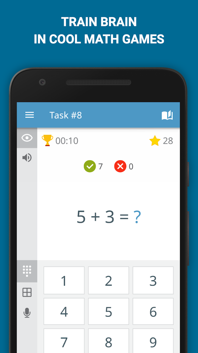 Math: mental math games, multiplication table Screenshot