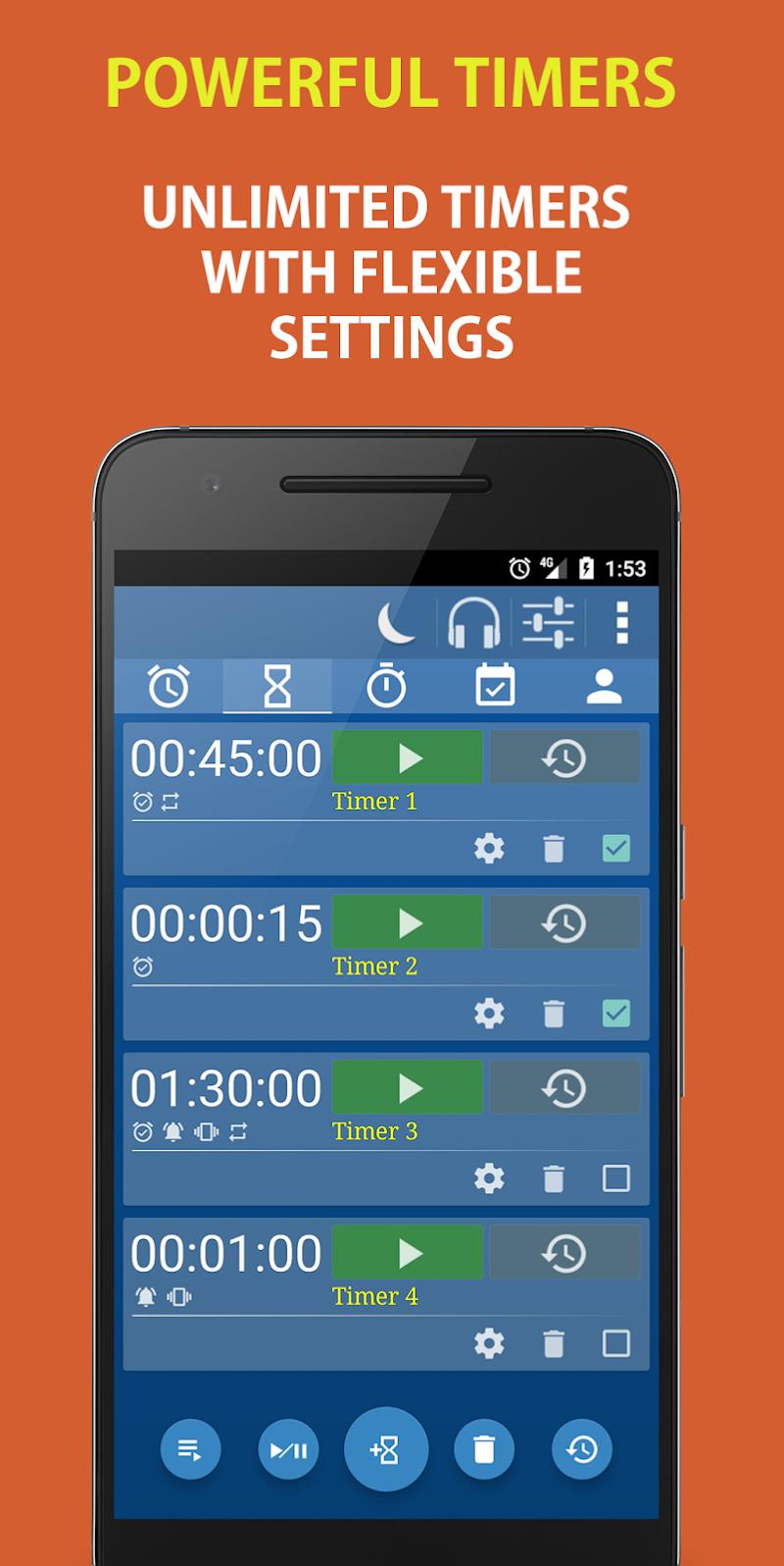 Alarm Clock & Timer & Stopwatch & Tasks & Contacts Screenshot 1