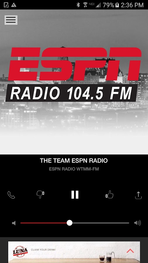 104.5 The Team ESPN - Albany's Sports Talk (WTMM)- screenshot