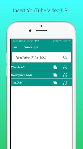 UTube Tags And Thumbnail Downloader screenshot 2