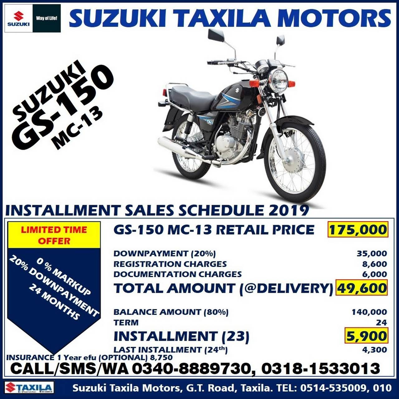 SUZUKI TAXILA MOTORS - 7S Authorized Dealership in Taxila