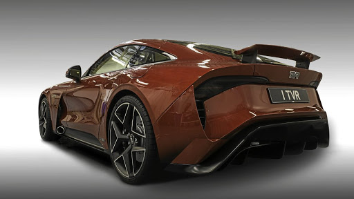 The rear gets a wing and diffuser but note the exhaust pipes just behind the front wheels.   Picture: TVR