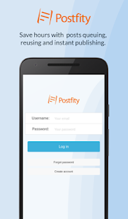 Postfity: Social Media Tool- screenshot thumbnail