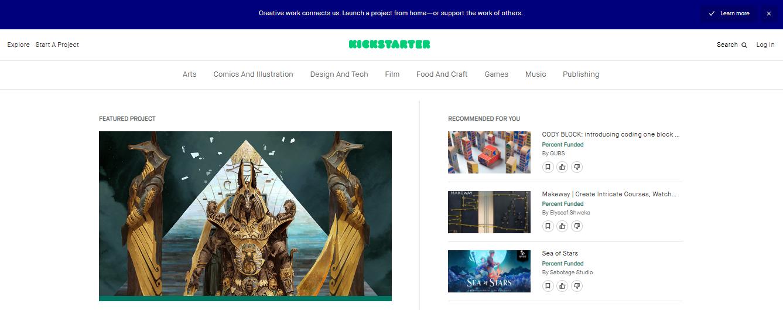 Kickstarter - crowdfunding marketplace