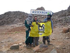 Photo: Just short of Assekrem. With flag of Wellington Phoenix.